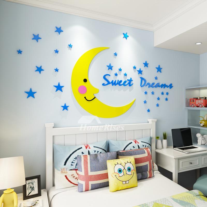 Moon Star Wall Stickers Kids Room