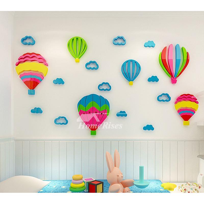 Children S Room Decoration 3d Acrylic, Hot Air Balloon Bathroom Decor
