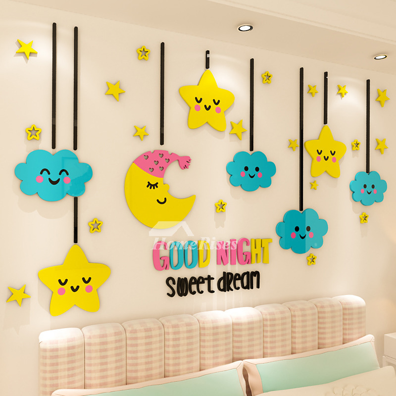 Children S Room Decoration 3d Acrylic Solid Wall Stickers Star Nursery Cute Clouds,Hemingway Home Key West Florida