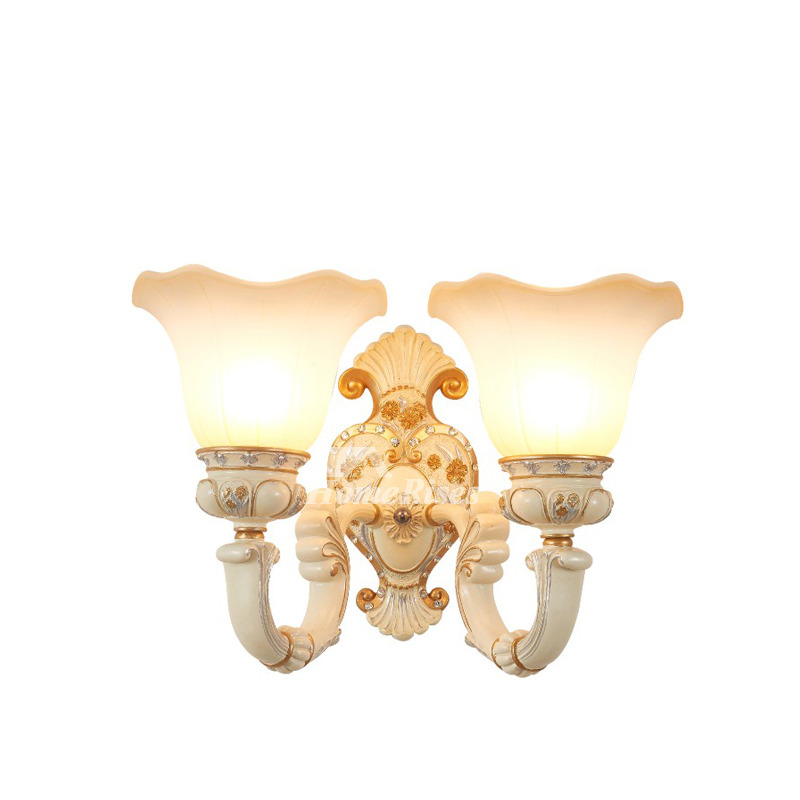 European Style Decorative Wall Sconces Indoor Bedroom Gold ...