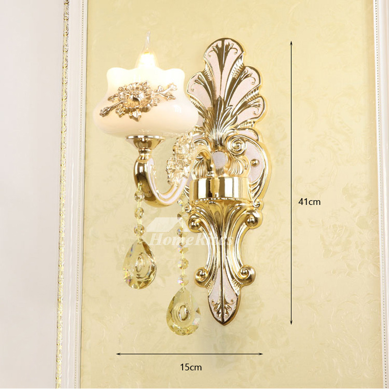 european crystal candle wall sconce bedside reading