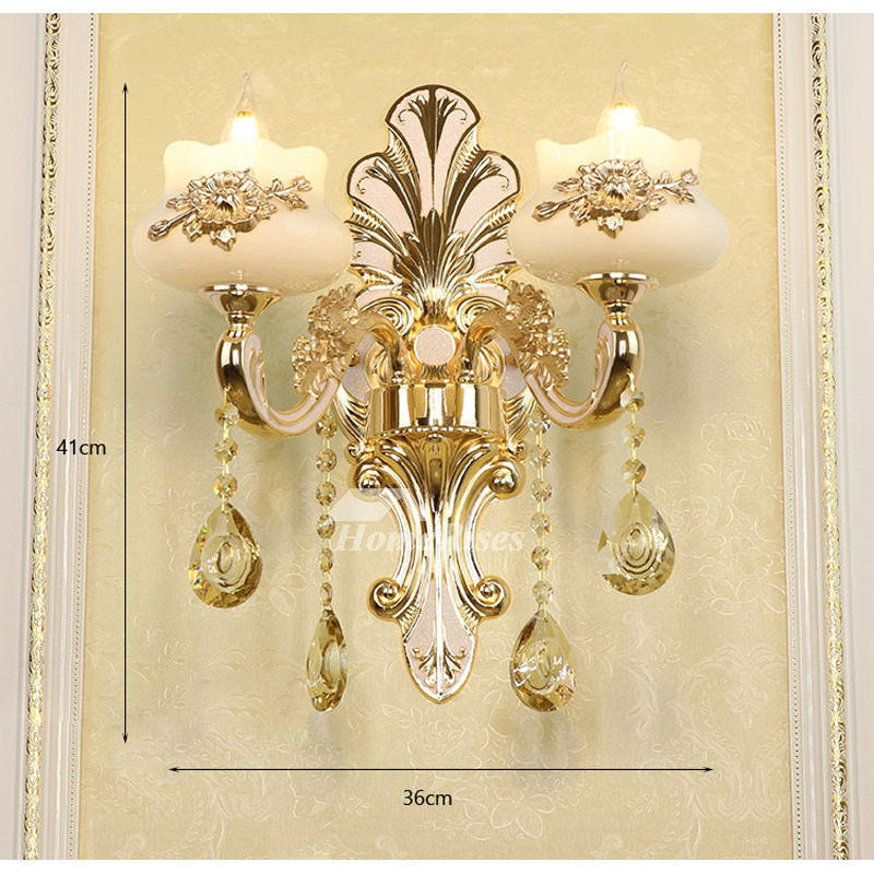 European Crystal Candle Wall Sconce Bedside Reading ...
