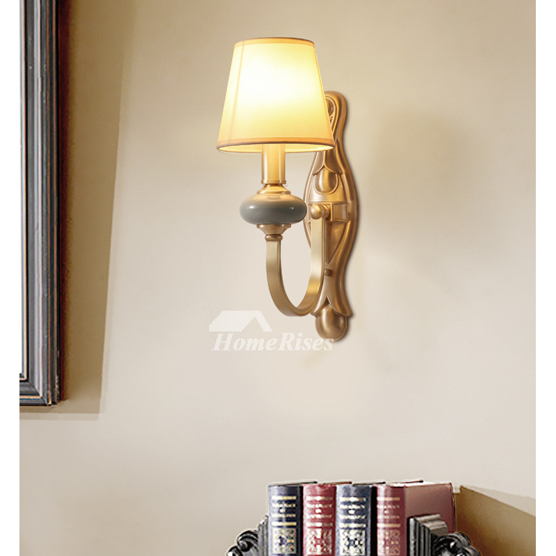 Copper Wall Lamp Bedroom Solid Br
