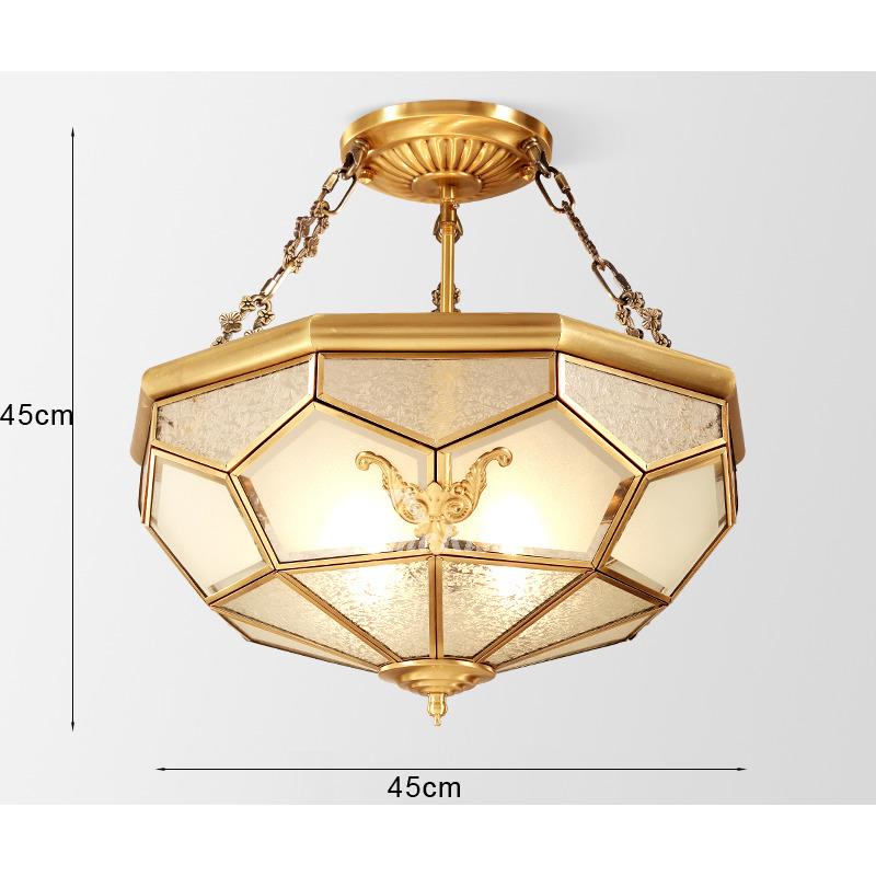Solid Brass Carved Antique Ceiling Lights Golden Flush ...