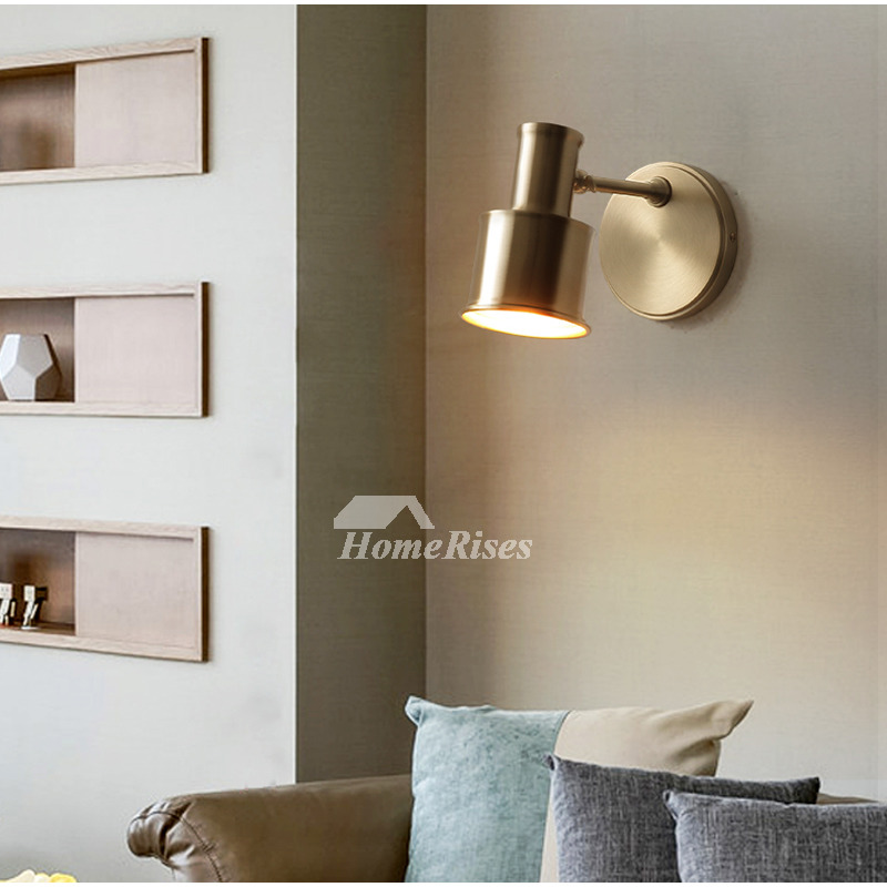 Solid Brass wall Lamp American Copper Bedroom Modern Living Room Wall  Sconces Bathroom Creative Makeup Mirror