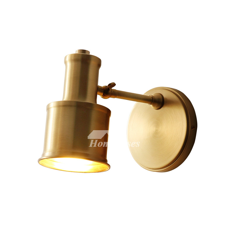 Solid Brass wall Lamp American Copper Bedroom Modern ...