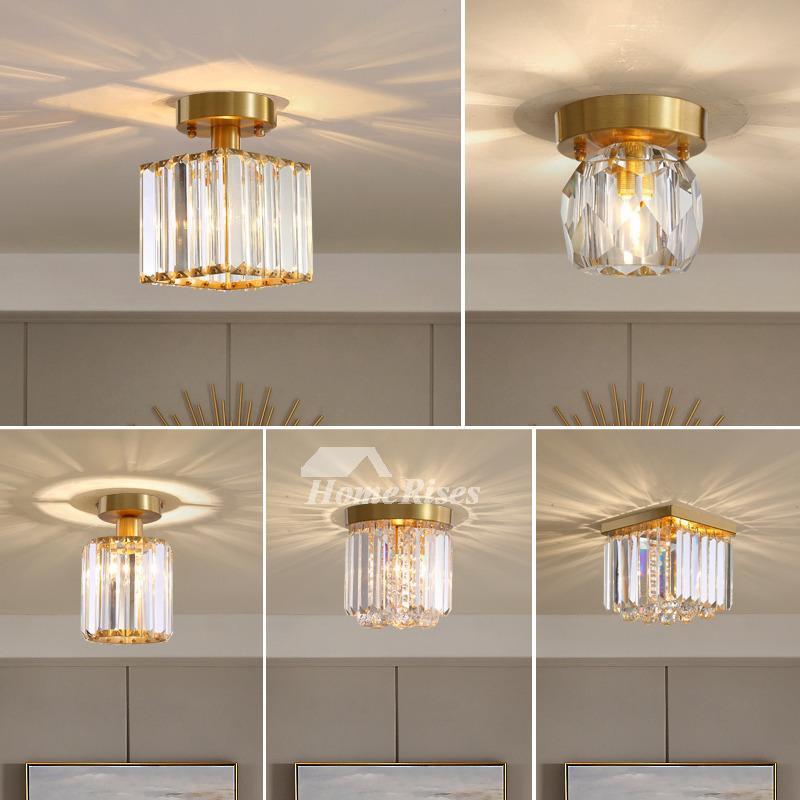 Luxury Crystal Lamp Copper Balcony