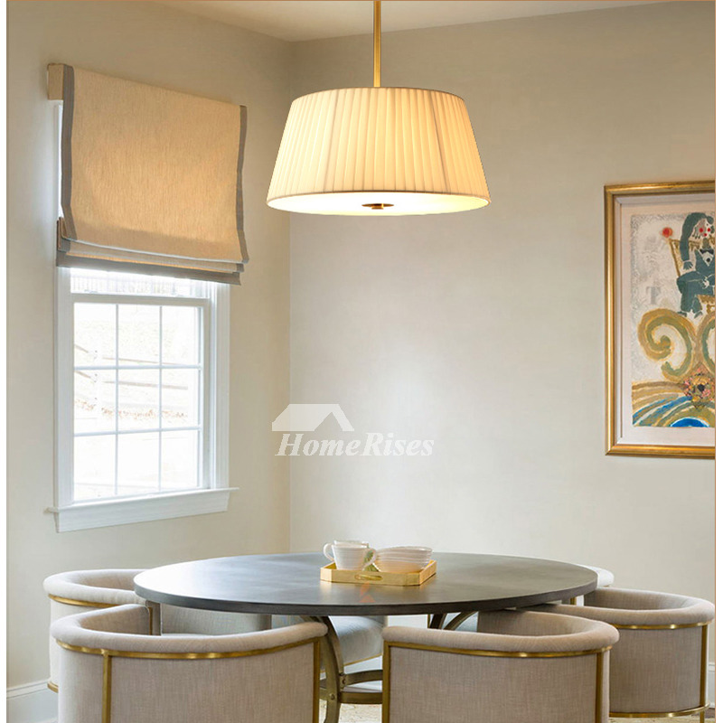 Dining Room Chandelier Ideas Study Modern Fabric Light Shade Solid Br Round Ceiling Lights