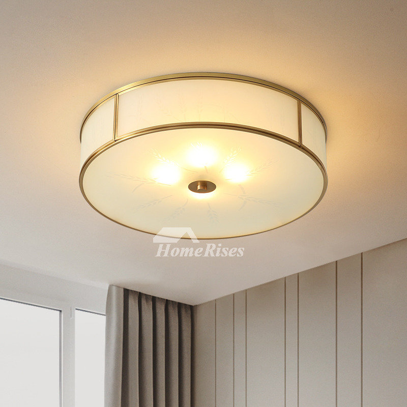Copper Bedroom Ceiling Lamp Round Study