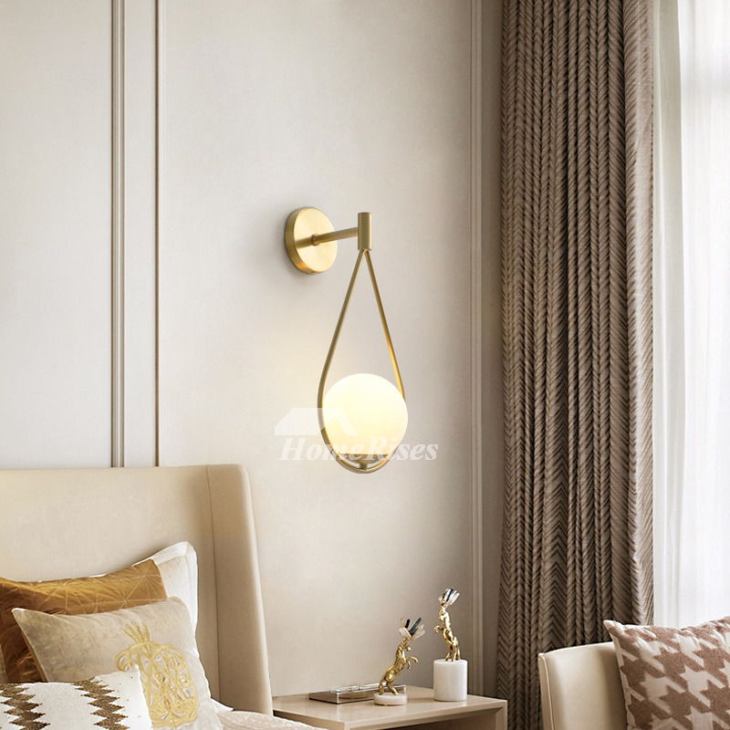Copper New Nordic Modern Living Room Bedside Brass Wall Sconce