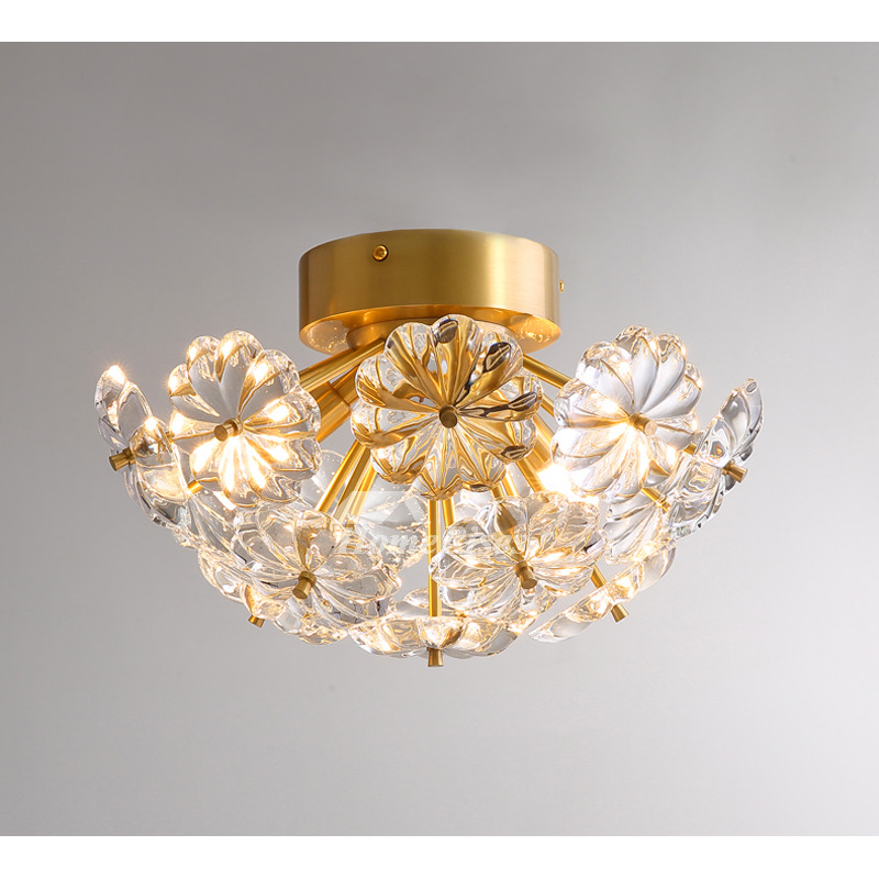 Led Crystal Light Fixtures Ceiling