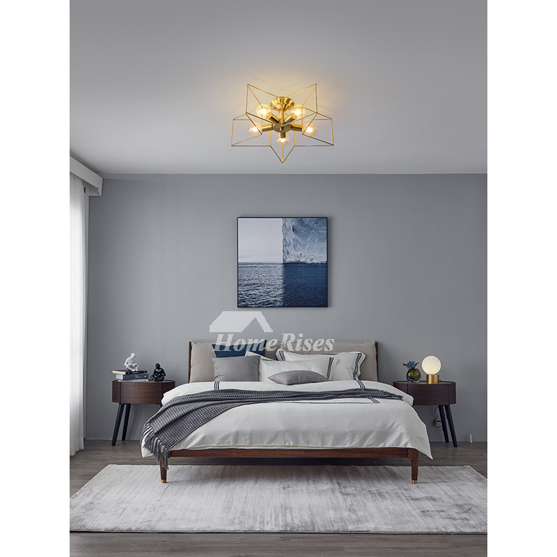 Pentagram Ceiling Lamp Bedroom Kids H65 Solid Brass Ideas 1/ 3/ 5 Lighting  Contemporary Star Living Room E27
