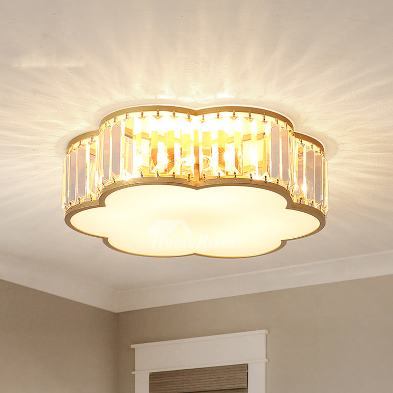 Cloud Crystal Craftsman Style Ceiling Lights Brass Luxury Contemporary Twinkle Home Study Room Led