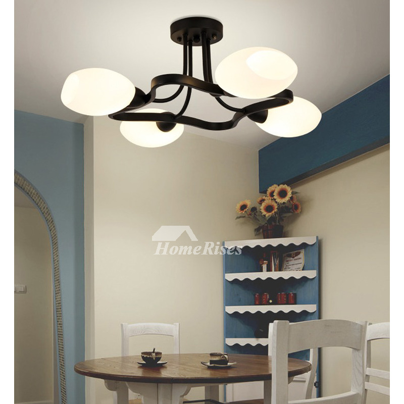 Country Bedroom Ceiling Lights Modern Creative Living Room Lamp Nordic  Wrought Iron 4/6 Lighting E14