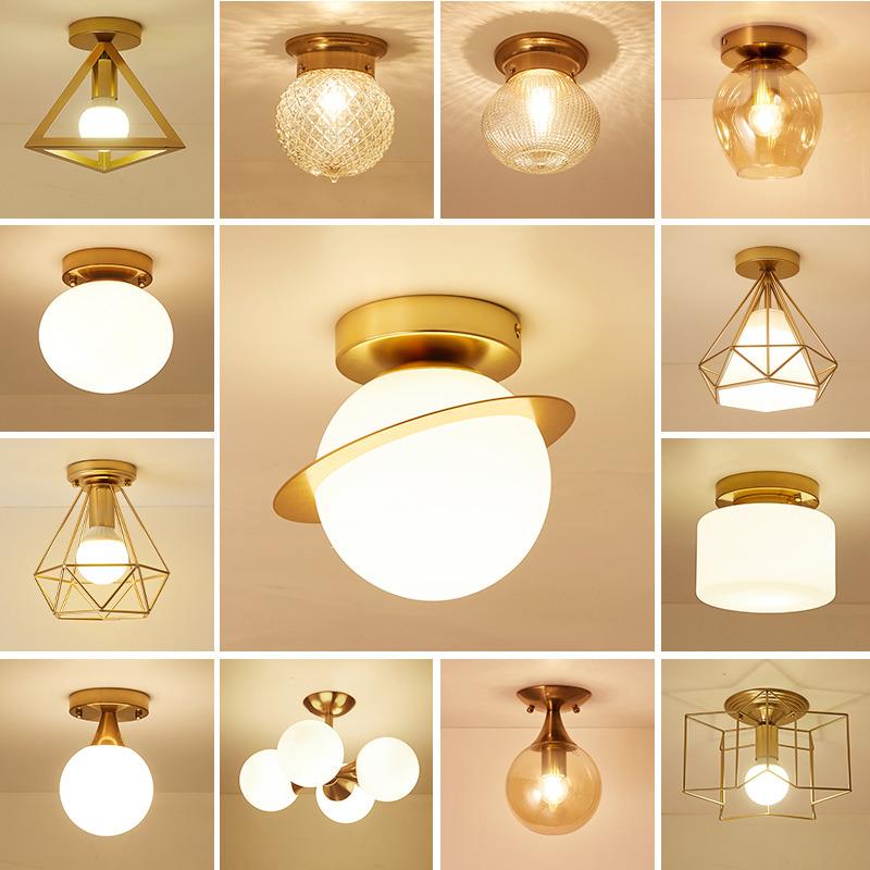 Ceiling Light Gl Ball Shades Gold