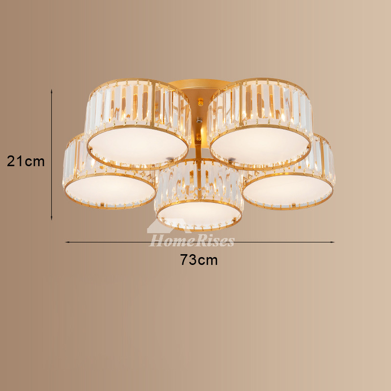 3 5 Lighting Round Crystal Shades Ceiling Light Cover