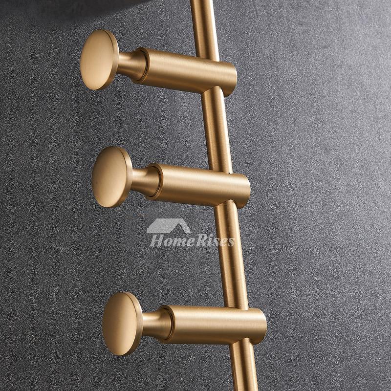 Luxury Brushed Brass Decorative Wall, Coat Racks Wall Mounted Decorative