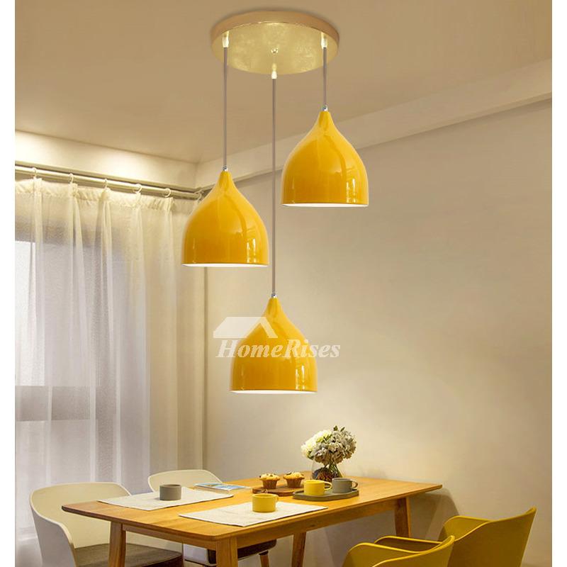 multicolor pendant lighting 3 light foyer modern black