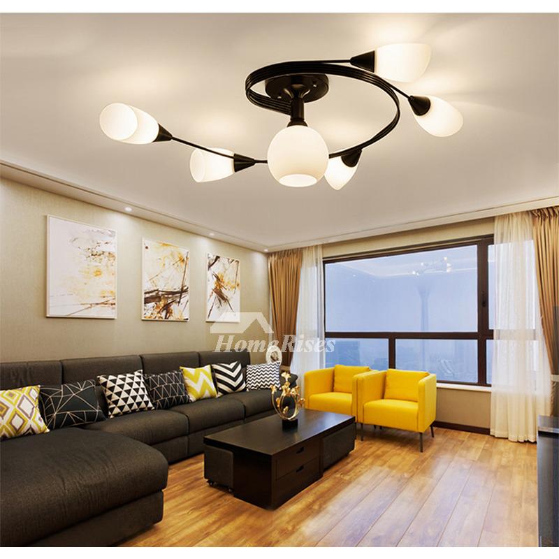 Living Room Ceiling Light Ideas 4/ 6 Lights Bedroom Black