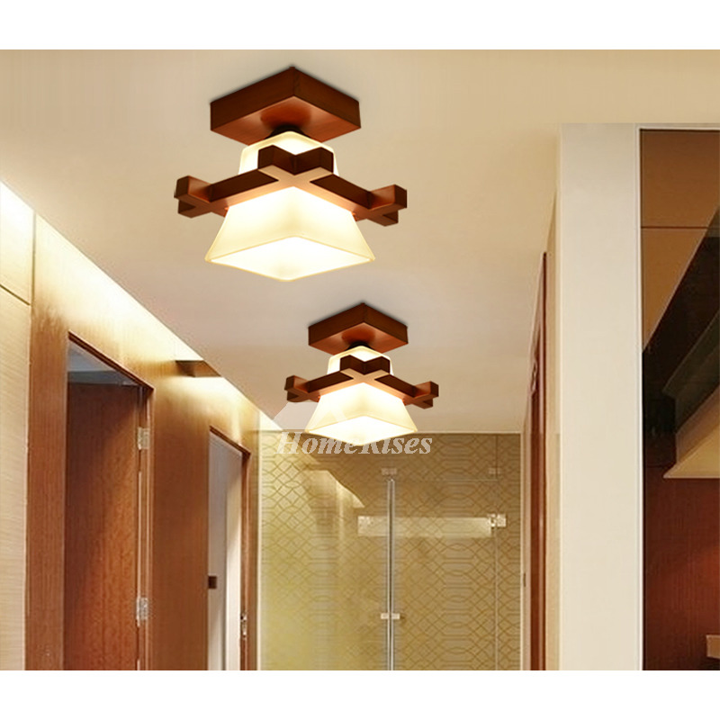 Solid Wood Ceiling Light Chinese Style