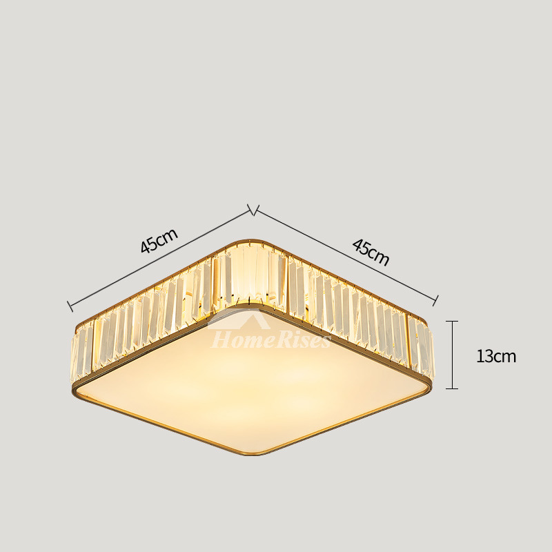 Contemporary Flush Mount Ceiling Lights Crystal Luxury Craftsman Round Square Gold Art Deco Bedroom
