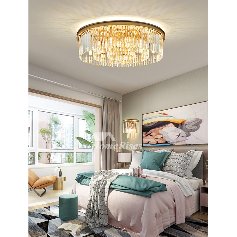 Gold Crystal Ceiling Light Fixtures