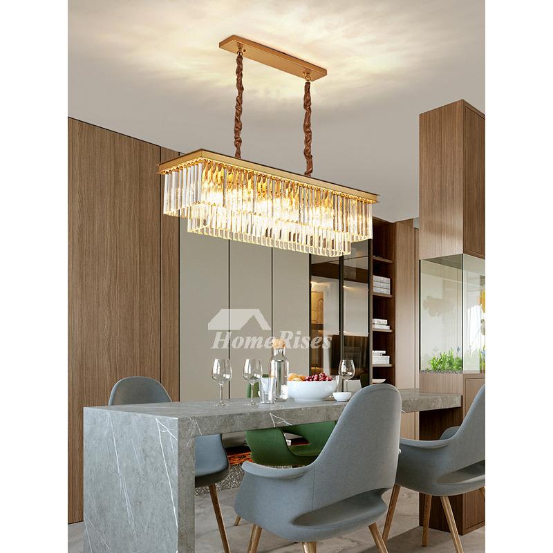 Gold Crystal Foyer Pendant Lighting