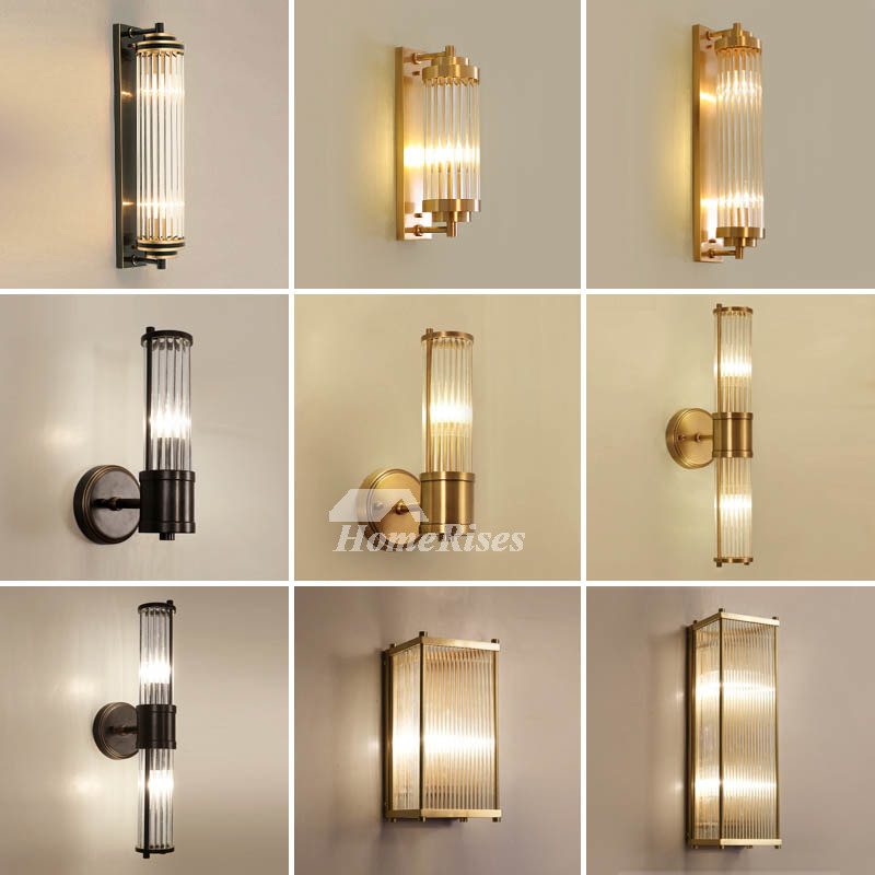 Luxury Wall Lamp Modern Bedside Gold 2 Lights Brass Living ...