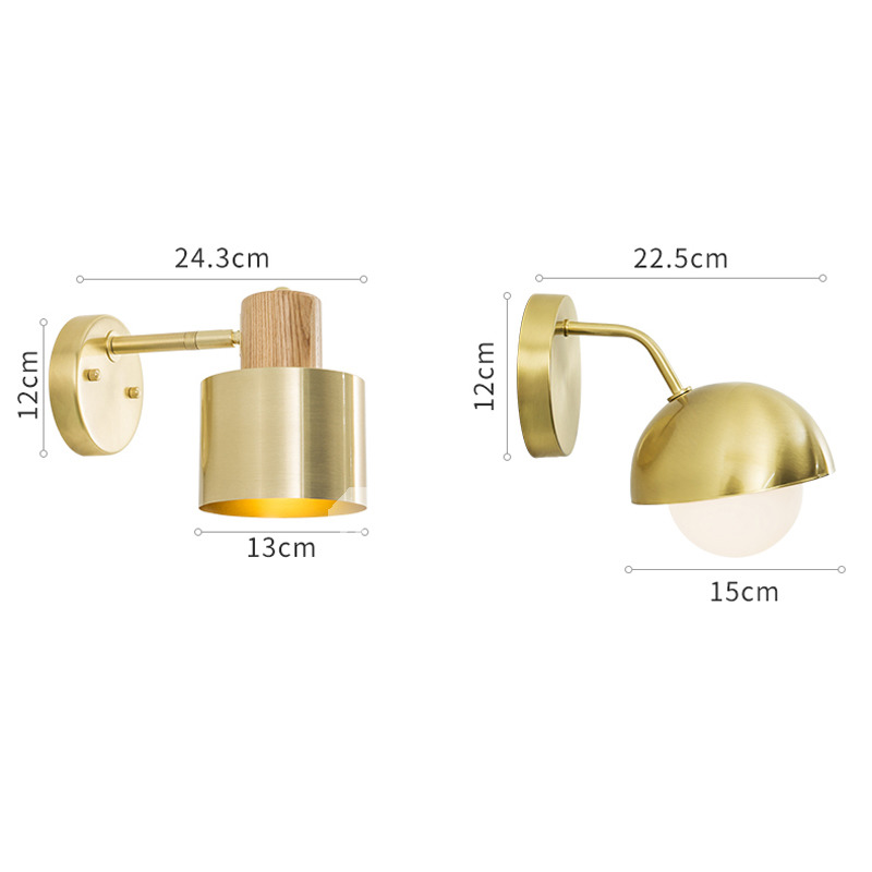 Brass Bedside Lamp Wall Mounted Makeup Mirrors With Lights Bathroom Cute  Bedroom