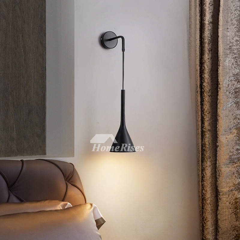 Bedside Wall Lamp Nordic Modern Black
