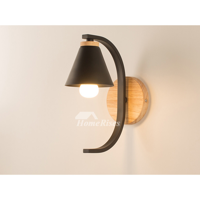 Bedroom Black Wall Lamp Ins Cute Nordic Girls Wall Night ...