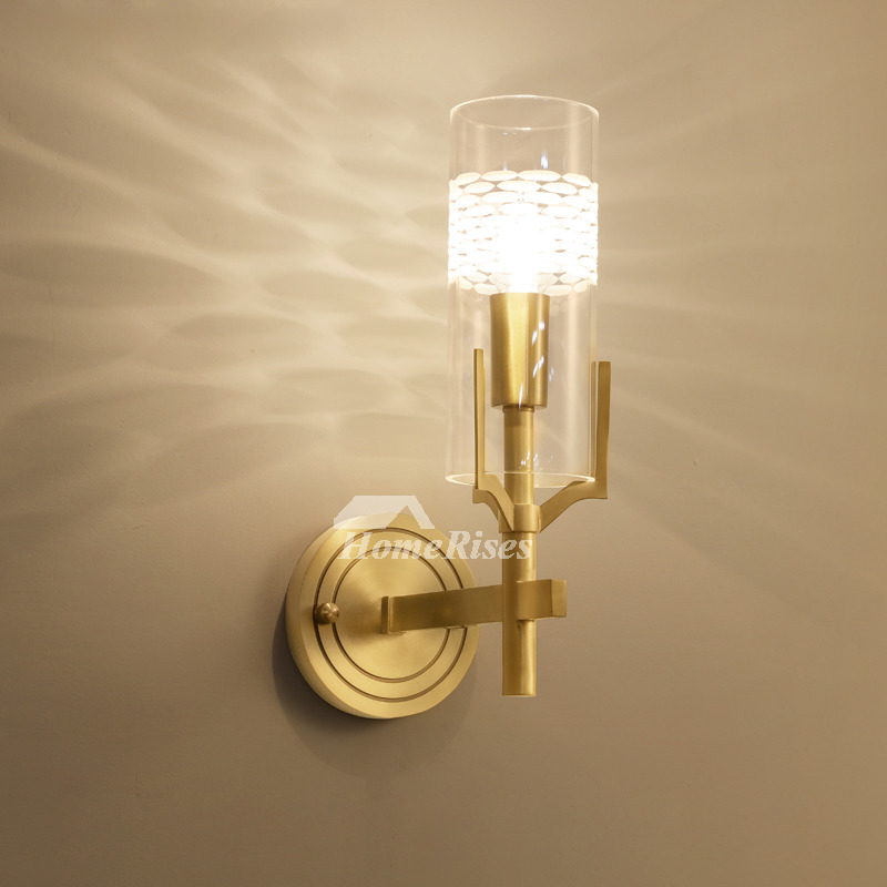 Reading Lamps Wall Mounted Simple Courtyard Aisle Luxury Brass Wall Sconces Living Room Gold