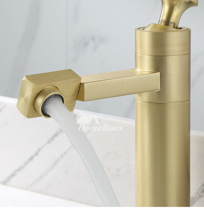 brassed gold widespread bathroom faucet brass vessel sink faucets rotatable best single hole