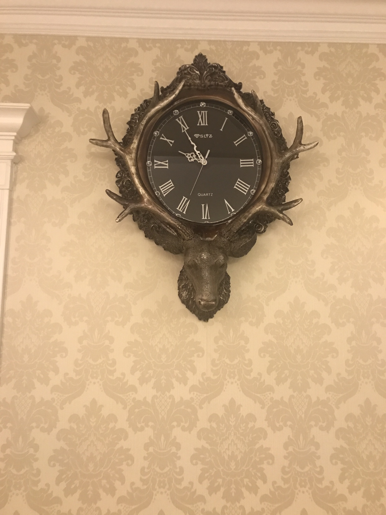 Antique Wall Clocks Antler Hanging Resin Antler Deco Art Carved Vintage