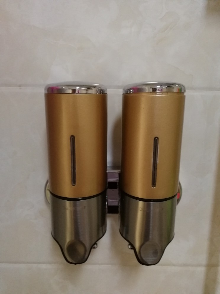 Commercial Double Soap Dispenser Gold Wall Mount