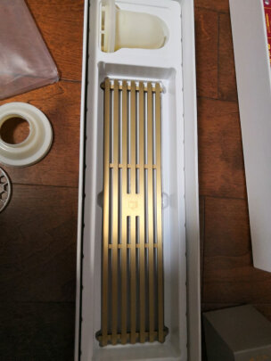 Qst 50 Deodorant Gold Brushed Brass Linear Shower Drain Anti Clogging Best Rectangular Floor