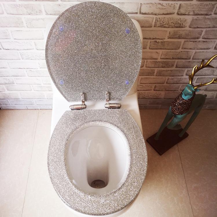 Silver Glitter Sparkle Toilet Bathroom Light Pull